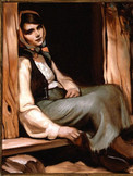 Girl in Cabin Doorway