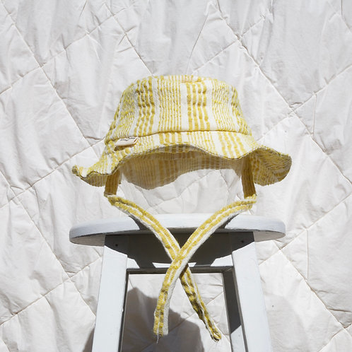 Striped Banana Bucket With Neck Tie