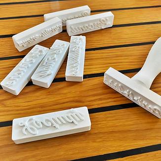 Impression 3D en plastique végétal de tampons-marqueurs pour une savonnerie bio