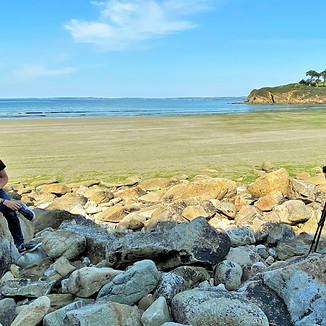 FL3D en tournage à Douarnenez sur le sujet des algues vertes