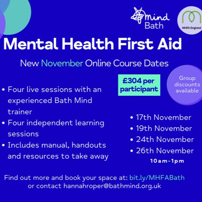 Online Mental Health First Aid Course Dates
