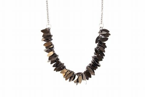 Charcoal Leaves Necklace