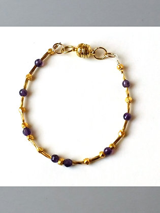 Amethyst Stacker Bracelet