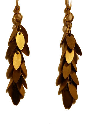Brass Leaf Dangle Earring