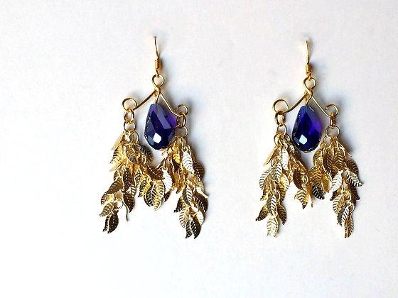 Cobalt Crystal Chandelier Earring