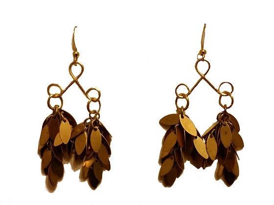 Brass Swag Earring