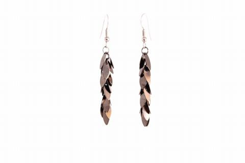 Charcoal Leaves Earrings