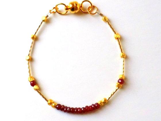 Ruby Stacker Bracelet