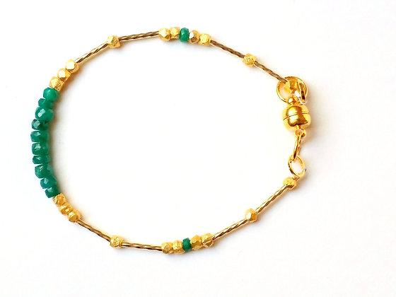 Sparkling Emerald Stacker Bracelet
