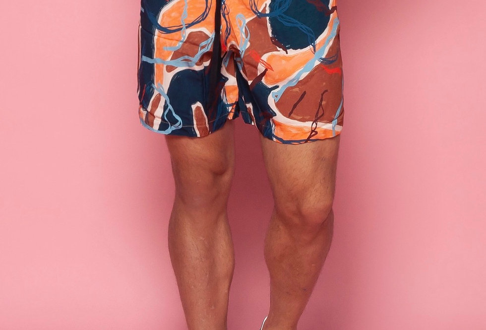 SHORTS VISCOSE ESTAMPADO