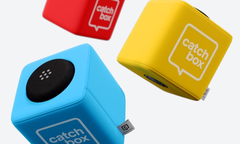 "Catchbox (Wurfmikrofon) ""Orange, Blau oder Grün"""