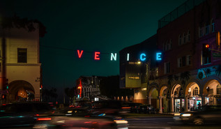Rushing in Venice.