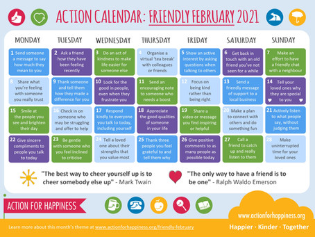 February 2021 Kindness Calendar