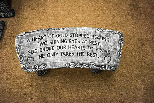 Heart of Gold Stone Bench