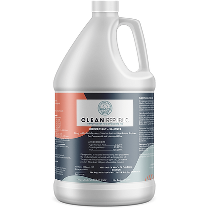 Clean Republic Hospital Grade Disinfectant + Sanitizer