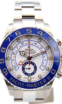 ヨットマスター II 116680 [オイスターブレスレット 白針 ホワイト]