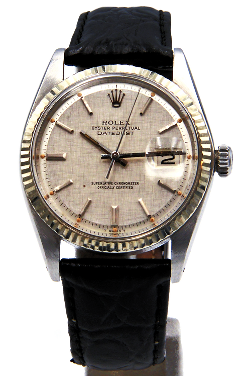 1601DATEJUST STEEL AUTOMATIC FLUTED BEZEL