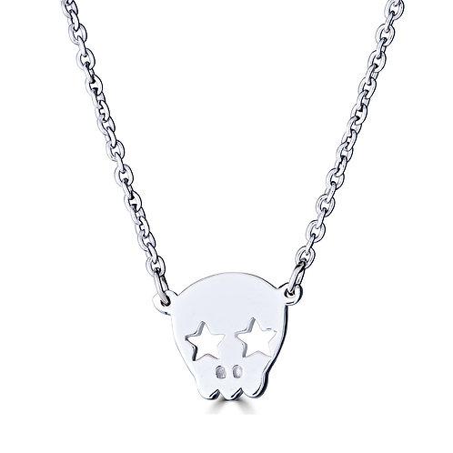 Skull w/ Star Eyes Necklace