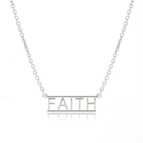 Bar Necklace- FAITH