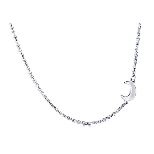 Side Mini Moon Necklace