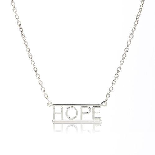 Bar Necklace- HOPE