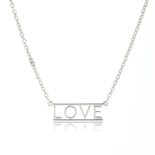 Bar Necklace- LOVE