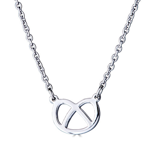 Pretzel Pendant Necklace