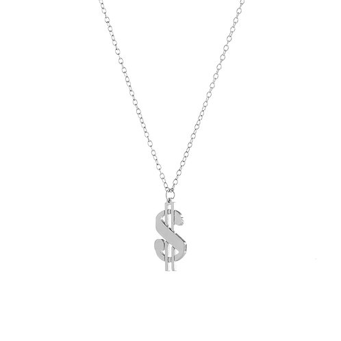 Dollar Sign Pendant Necklace