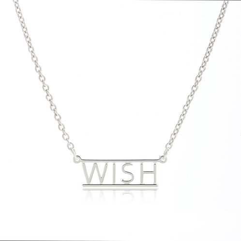 Bar Necklace- WISH