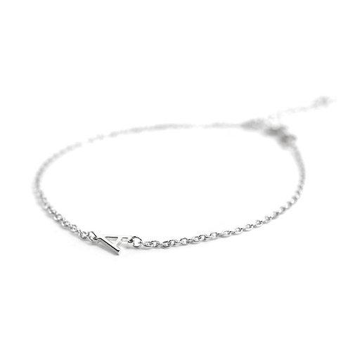 Sterling Silver Mini Initial Bracelet