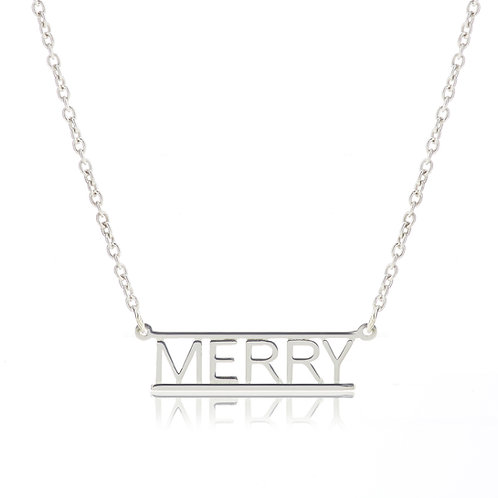 Bar Necklace- MERRY