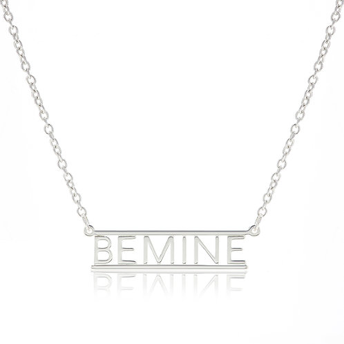 Bar Necklace- BE MINE