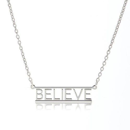 Bar Necklace- BELIEVE