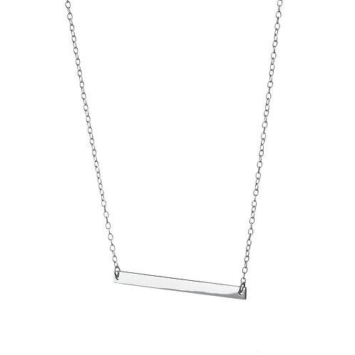 Plain Solid Bar Necklace