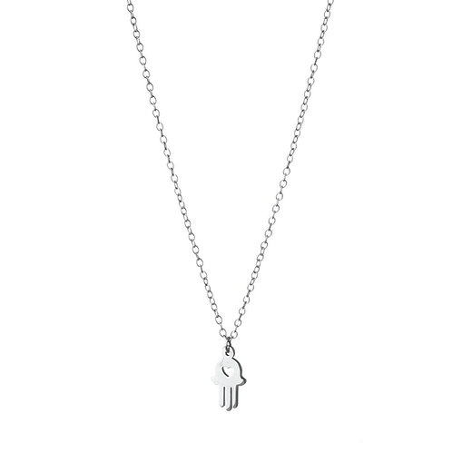 Hamsa Hand (heart cut out) Necklace