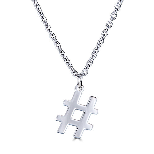 Hashtag Pendant Necklace