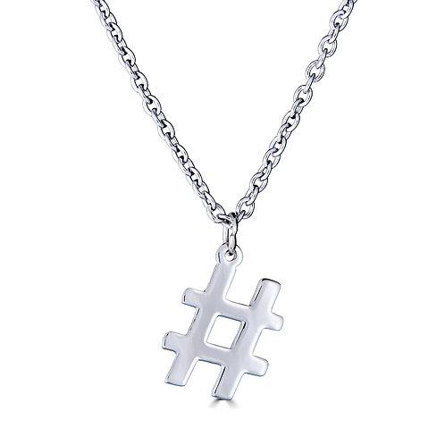 Hashtag Pendant Necklace