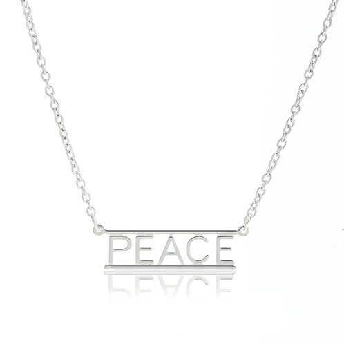 Bar Necklace- PEACE