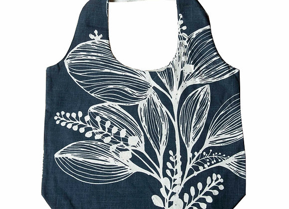 Slub Cotton Shopper -Charcoal  Reverse Foliage