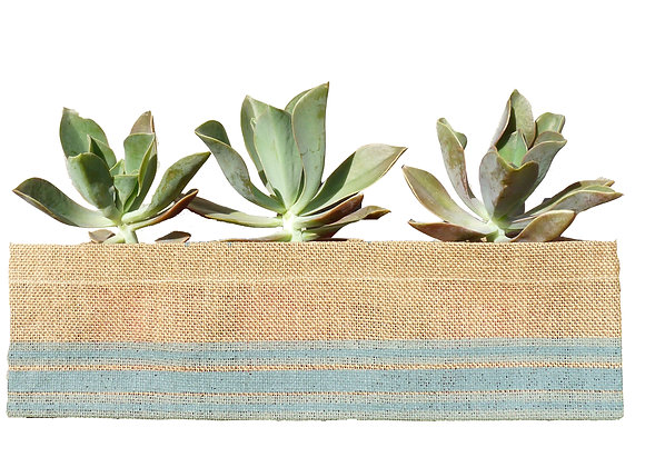 Jute Planter Stripe Olive