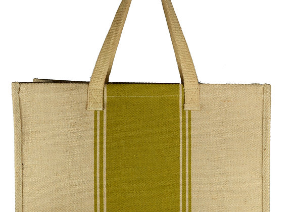 Carpet Bag Olive Stripe