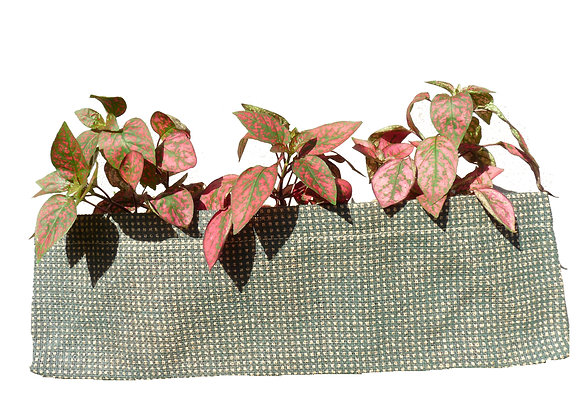 Jute Planter Check Olive