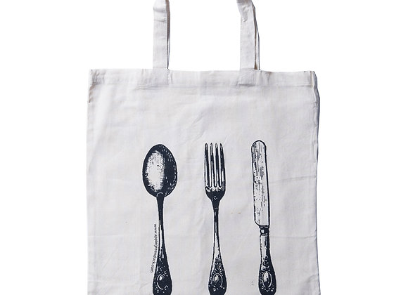 Cutlery Calico Tote