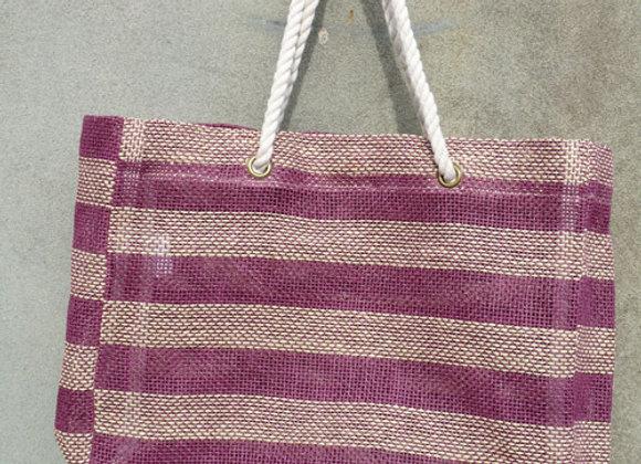 paper stripe bag: berry