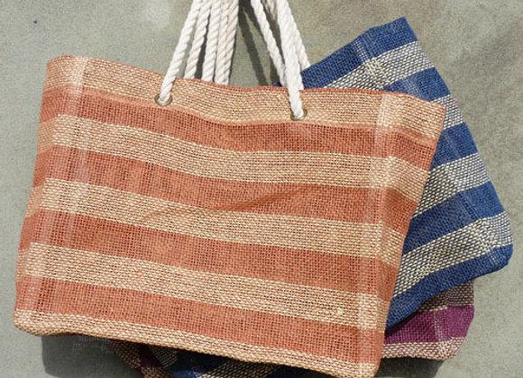 paper stripe bag: rust