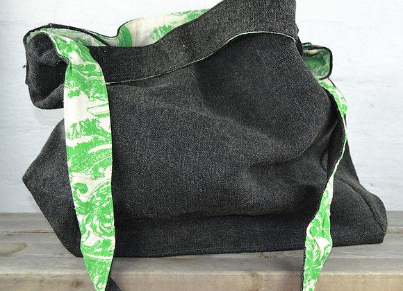 Washed Jute bag charcoal