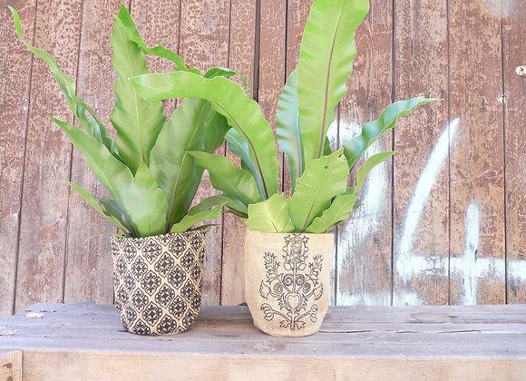 Pot Plant Holder - charcoal baroque