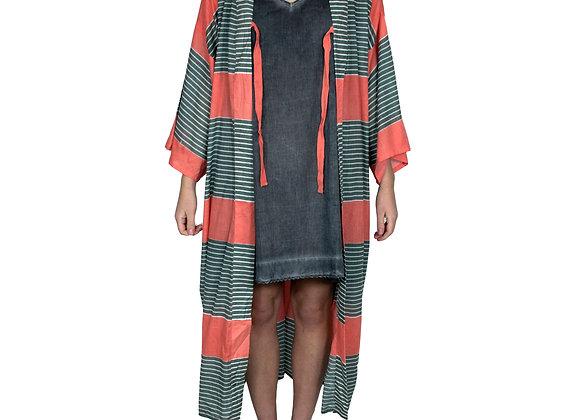 Stripe Mango Kimono