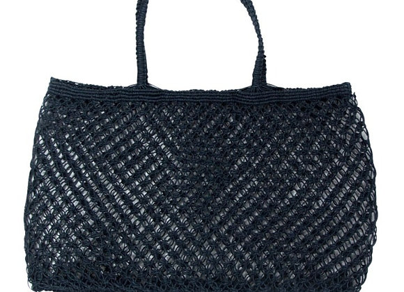 Jute String Shopper Navy