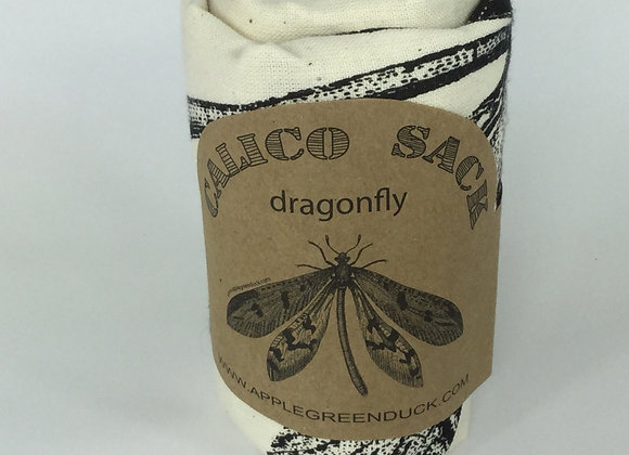 dragonfly calico sack